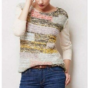 Anthropologie Moth Mixed Media Sweater XS
